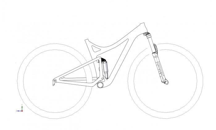 Bicycle Suspension System Drawing